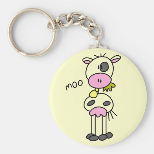 Cow Says Moo Tshirts and Gifts Keychains