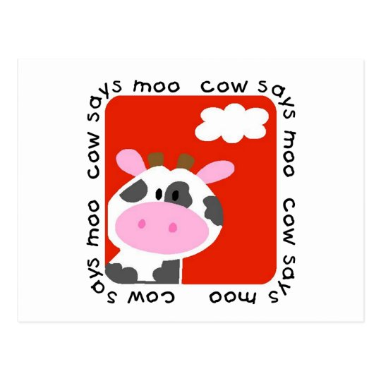 Cow Says Moo Tshirts and Gifts Postcard