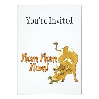 Cow Says Nom Nom Nom 5x7 Paper Invitation Card