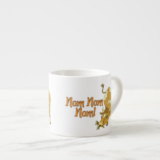 Cow Says Nom Nom Nom Espresso Cup