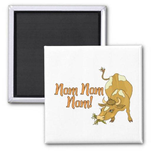 Cow Says Nom Nom Nom Fridge Magnet