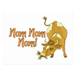 Cow Says Nom Nom Nom Postcard