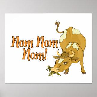 Cow Says Nom Nom Nom Poster