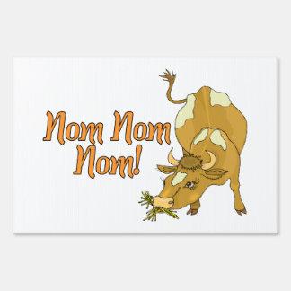 Cow Says Nom Nom Nom Signs