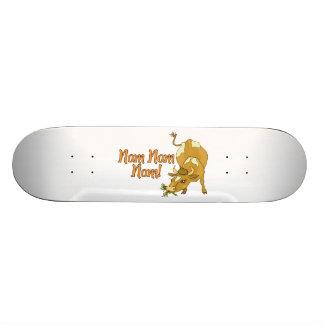 Cow Says Nom Nom Nom Skateboard Deck
