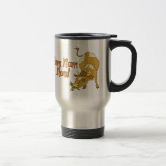 Cow Says Nom Nom Nom Travel Mug