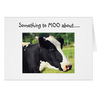 """COW SAYS """"SOMETHING TO MOO ABOUT"""" U R """"40"""" CARD"""