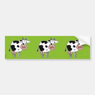 cow scrapbook sticker car bumper sticker