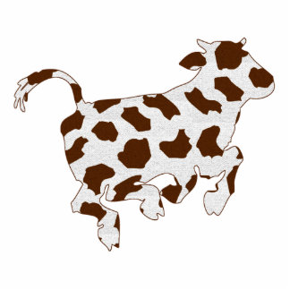 Cow Shape with Brown Spots Photo Cutouts