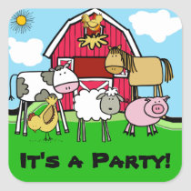 Cow Sheep Pig Chicken Farm Animals Stickers