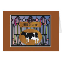 Cow sign card