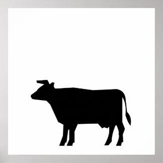 Cow Silhouette Print