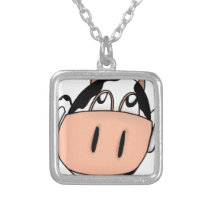 Cow Silver Plated Necklace