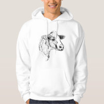 Cow Simple Sketch Hoodie