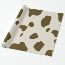 COW SKIN Brown Animal Print Wrapping Paper