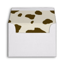 COW SKIN Brown Envelope