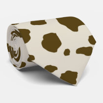 COW SKIN brown small print Tie