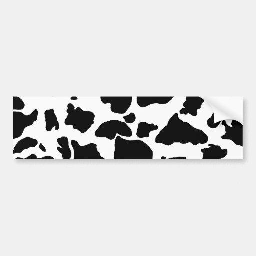 Cow skin Bumper Sticker