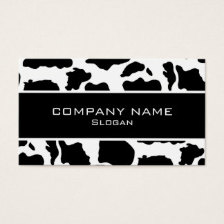 Black white cow business cards templates zazzle cow skin business cards colourmoves