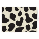 Cow Skin Cow Pattern Greeting Card