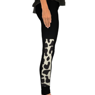 Cow Skin Cow Pattern Leggings