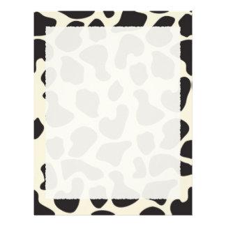 Cow Skin Cow Pattern Letterhead