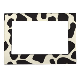 Cow Skin Cow Pattern Magnetic Frame