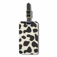 Cow Skin Cow Pattern Travel Bag Tags