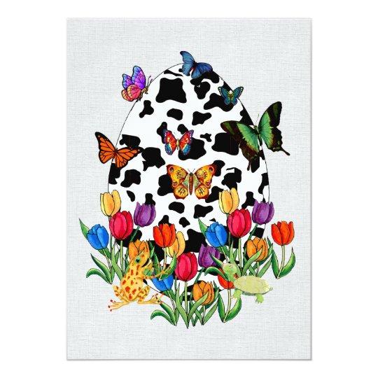 Cow Skin Easter Egg Card