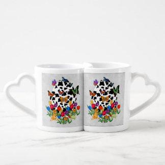 Cow Skin Easter Egg Couples Coffee Mug