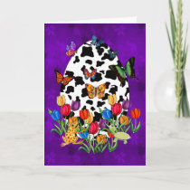 Cow Skin Easter Egg Holiday Card