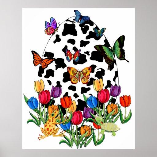Cow Skin Easter Egg Poster