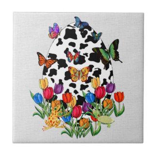 Cow Skin Easter Egg Tile