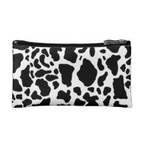 Cow skin pattern makeup bag