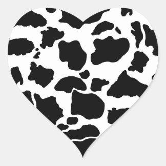 Cow skin Sticker Heart Sticker