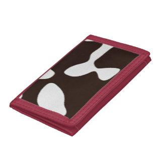 Cow Skin Texture Tri-fold Wallet