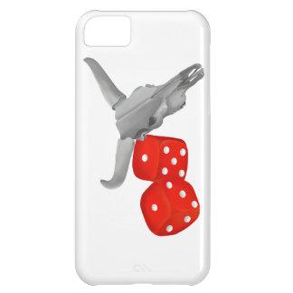 Cow Skull and Gambers Craps Dice iPhone 5C Cases