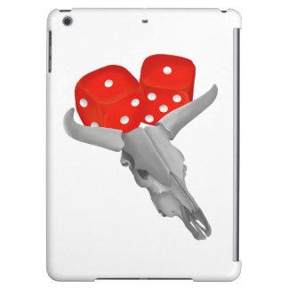 Cow Skull and Gamblers Craps Dice iPad Air Cover