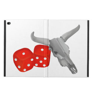 Cow Skull and Gamblers Craps Dice Powis iPad Air 2 Case