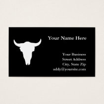 Cow Skull Business Card