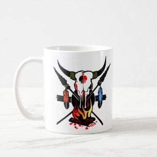 Cow Skull Fire Coffee Mug