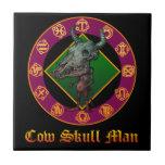 Cow Skull Man セラミックタイル