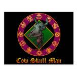 Cow Skull Man 葉書き