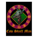 Cow Skull Man Post Card