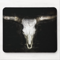 Cow Skull Mouse Pad