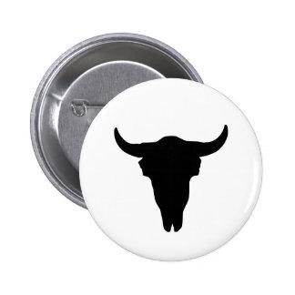 Cow Skull Pinback Button