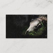 Cow skull profile or business card