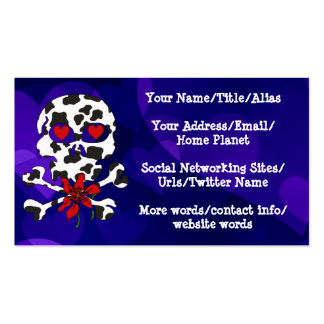 Cow Skull Valentine Business Card
