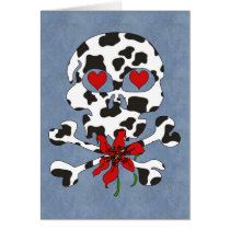 Cow Skull Valentine Card