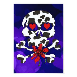 Cow Skull Valentine 5x7 Paper Invitation Card